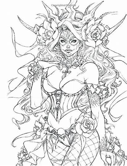 Coloring Fairy Pages Adult Tales Fantasy Adults