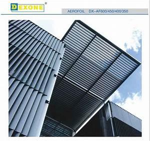 Foshan Aluminum Sun Shade Louvers Fixed On The Curtain