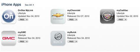 mybuick mygmc mycadillac apps join mychevrolet  apple