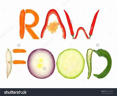 Raw Word Letters Clipart Vegetables Formed Written