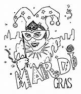 Mardi Gras Coloring Jester Mask Pages Carnival Sheets Crayola Print Printable Tuesday Fat Popular Crafts Fun Printables Mardigras Coloriage Coloringhome sketch template