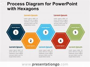 Process Diagram For Powerpoint W   Hexagons