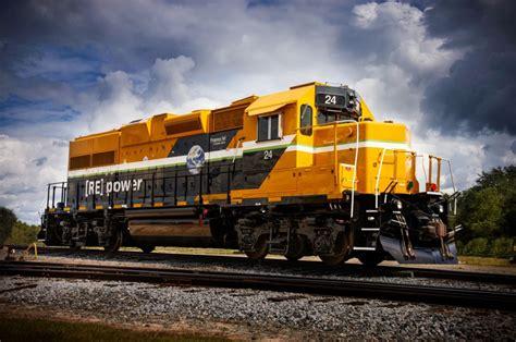caterpillar radial progress rail locomotives