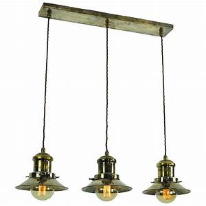 Hanging kitchen island light with nautical style antique