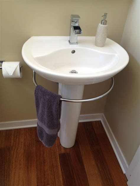 modern pedestal with towel bar homesfeed