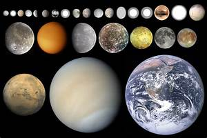 Worksheet Solar System Size Comparison - Pics about space