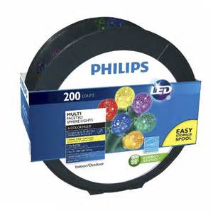 philips 200ct multi led faceted sphere string christmas lights