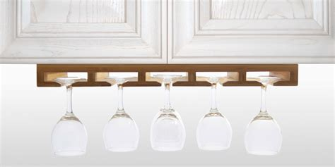 Kitchen Kaboodle Wine Glasses by Hanging Glass Rack Bamboo Kitchen Accessories