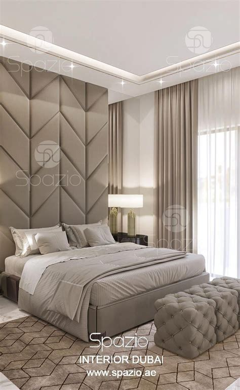bedroom interior design  dubai spazio interior company