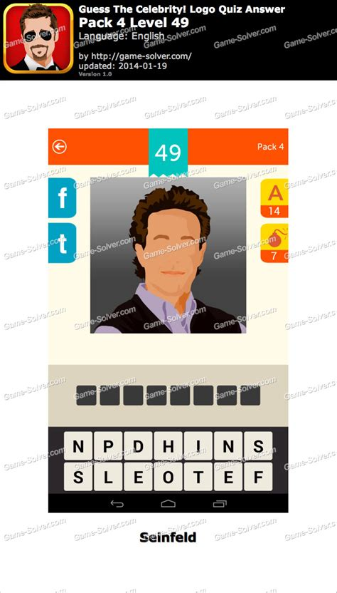 guess the celebrity logo quiz pack 4 level 49 game solver