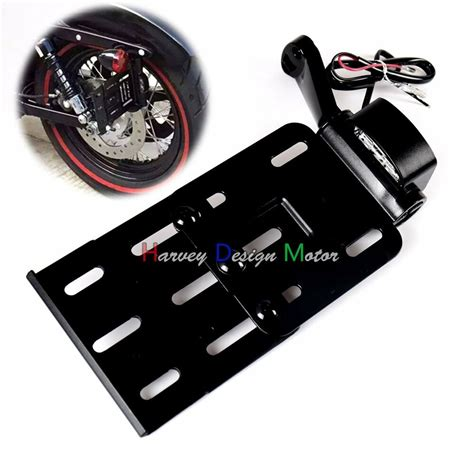 Kaos Harley 04 collapsible led side mount license plate bracket for