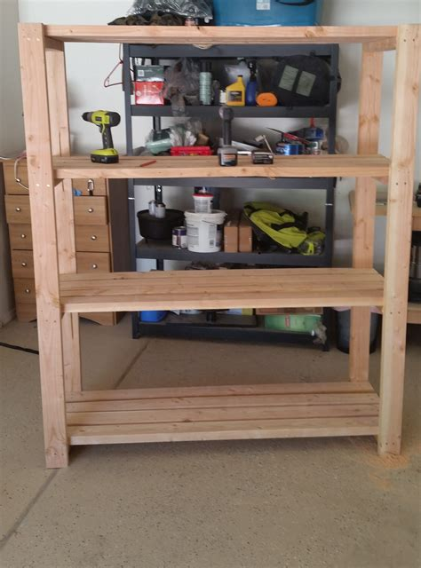 Garage Shelving Projects by 2x4 Garage Shelving Do It Yourself Home Projects From