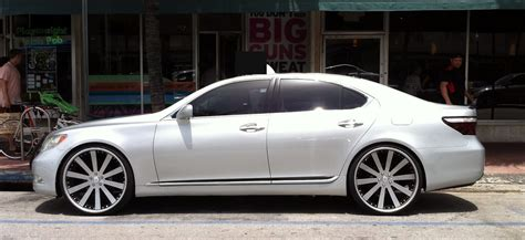 custom lexus silver lexus ls 460 with custom rims exotic cars on the
