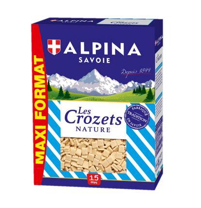 cuisiner les crozets de savoie crozet nature maxi format alpina savoie