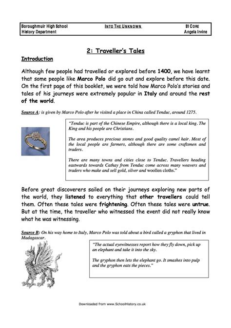 free history worksheets for high school