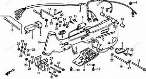 Honda Atv 1979 Oem Parts Diagram For Frame    Wire Harness
