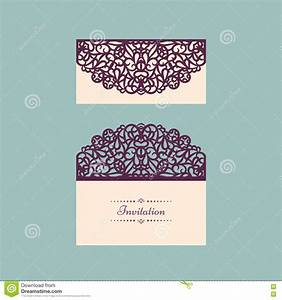 lazercut vector wedding invitation template wedding With laser cut wedding invitations vector free