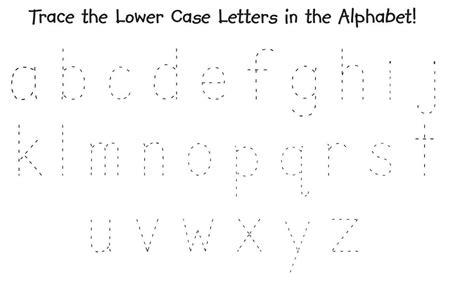 Lower Case Alphabet Worksheets Tracing  Printable Shelter