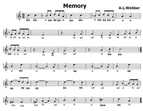 testo memory cats musica e spartiti gratis per flauto dolce