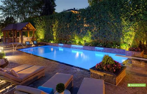 landscape lighting ideas around pool and outdoor cool