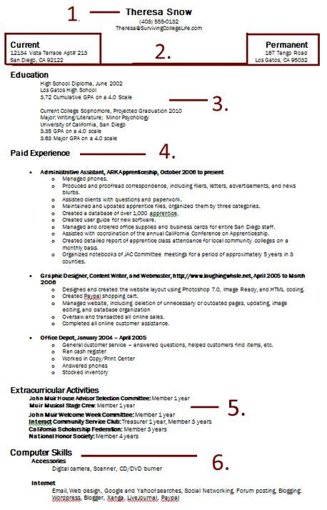 How To Right A Resume by How To Write A Basic Easy Resume Right Out Of College It
