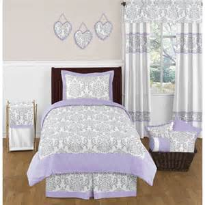 elizabeth lavender and gray bedding collection