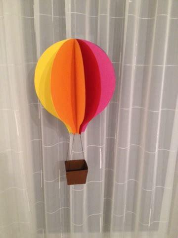 heissluftballon aus papier basteln dansenfeesten