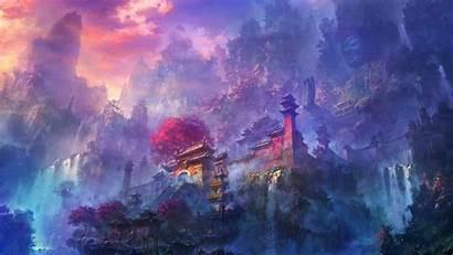 Temple Japanese Mountain 4k Wallpapers Desktop Mobile