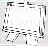 Easel Coloring Outline Illustration Royalty Rf Clipart Visekart Easels Regarding Notes Quick Template Sheet sketch template