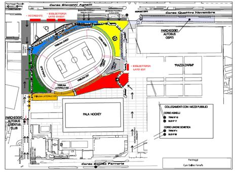 Mappa Juventus Stadium Ingressi by Juventus Club Londra