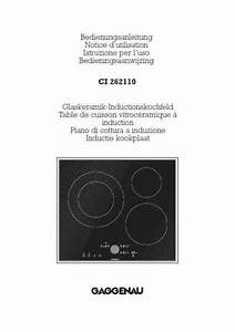 Gaggenau Ci 262  Stove Download Manual For Free