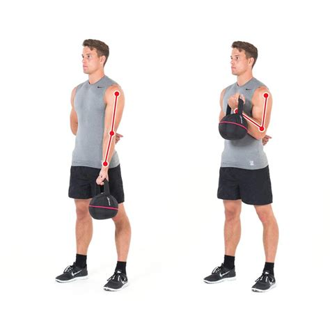 biceps arm kettlebell exercises arms exercise training bizeps gymbox side overhead squat triceps