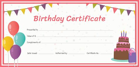 birthday gift certificate template  adobe