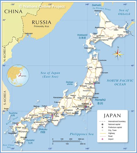political map  japan nations  project