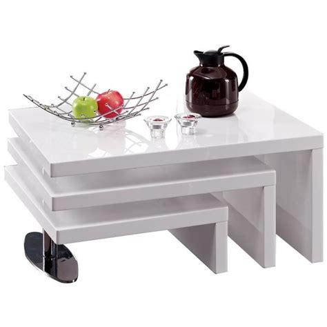 table basse blanc laque cdiscount table basse 224 3 plateaux pivotants blanc laqu 233 achat vente table basse table basse 224 3