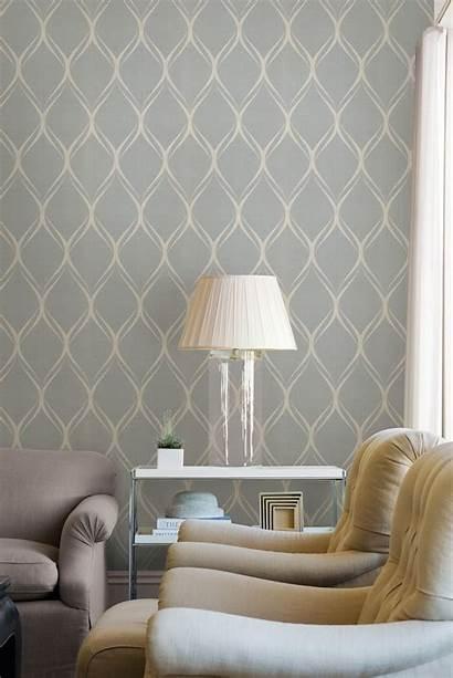 Grey Geometric Living Parede Papel Behang Gray