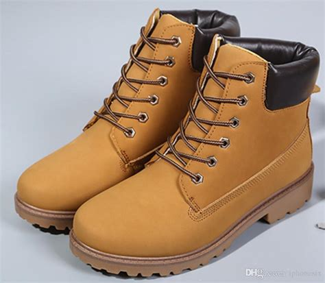 New Winter Leather Rubber Men Boots Non Slip Outdoor