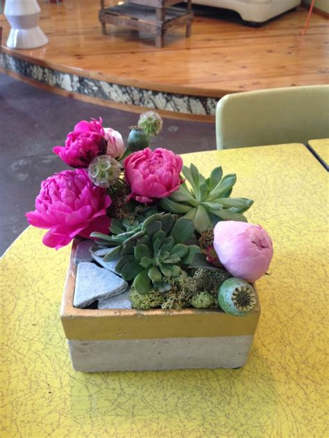 Sweet Succulents For Boutonnières Wedding Centerpieces