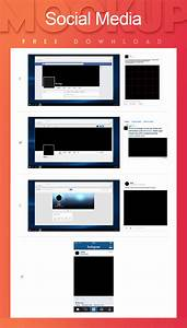 Download free social media mockup kit free psd at downloadpsdcom for Social media templates psd