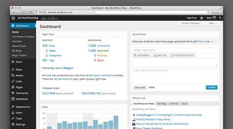 Wordpress Dashboard wordpresscom dashboard   beautiful makeover 2674 x 1493 · png