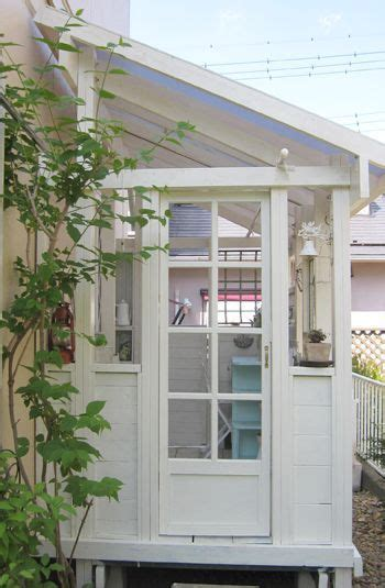 This greenhouse features extra tall straight side glass greenhouse with salvaged windows (craigslist). bf48e3d9f3993e81b89acef9694dc13f.jpg (350×535) | Lean to ...