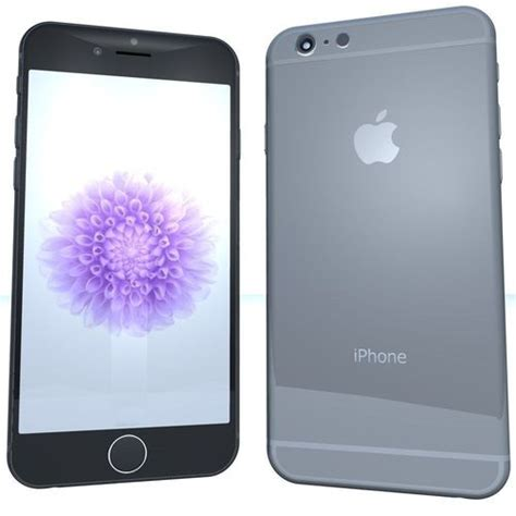 iphone 6 space grey iphone 6 space grey 3d models cgtrader