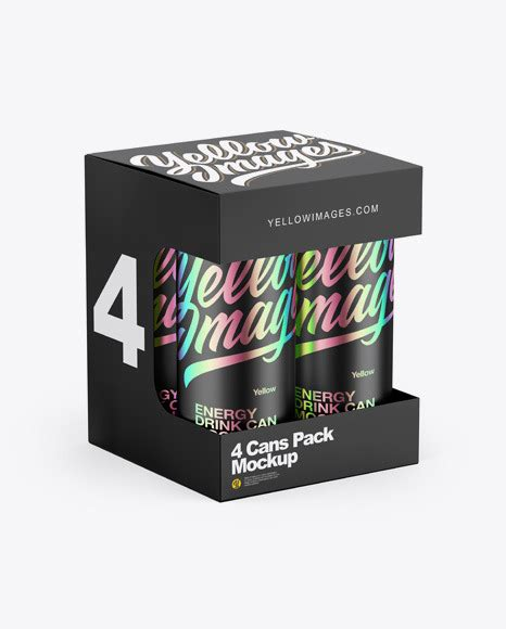 When you place your design on such a mockup, you see all the some mockups are useful while others are vital for a professional designer. Box w/ Matte Metallic Cans Mockup in Can Mockups on Yellow ...