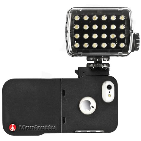 iphone light manfrotto klyp iphone 5 with ml240 led light mklklyp5 b h
