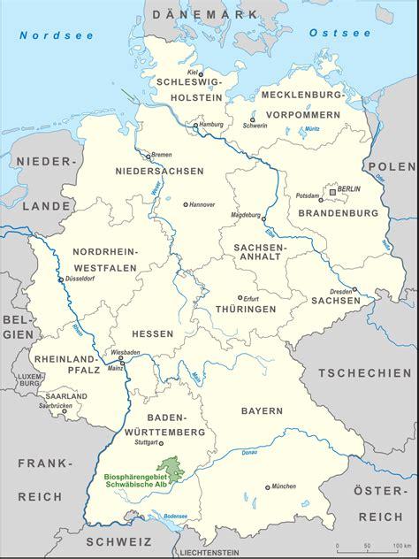 Schwäbische Alb Karte