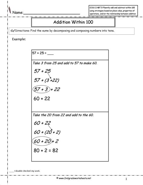 Common Core Math Worksheets For 2nd Grade Worksheets For All  Download And Share Worksheets