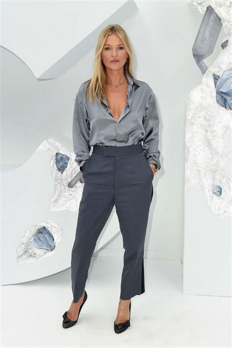 Kate Moss attends the Dior Homme Menswear Spring/Summer ...