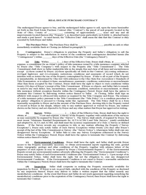real estate contract form   templates   word