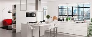 Ilot Cuisine But : cuisine am nag e blanc brillant design et la qualit ~ Melissatoandfro.com Idées de Décoration
