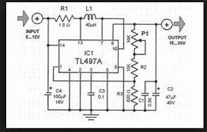 Wiring Schematic Diagram  Tl497a Simple Voltage Converter